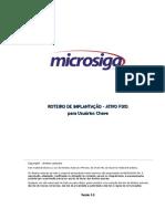 Roteiro de Implantação - ATIVO FIXO