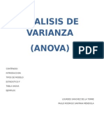 Analisis de Varianza