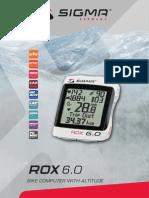 Sigma Rox 6.0 Manual GB manual