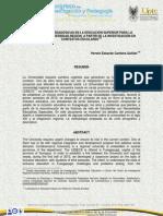 Estrategias Pedagógicas en La Educación Superior Para La Integración Universidad Región