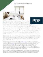 UNAM Ofrece Catorce Licenciaturas A Distancia