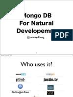 MongoDB For Natural Development