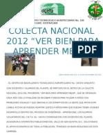Colecta Nacional Ver Bien Para Aprender Mejor 2012