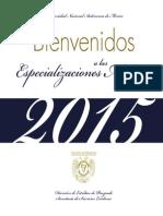 Folleto UNAM Esp Bienvenidos-2014