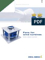 Flyer Fans for Wind Turbines