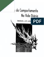 BALDWIN, J; BALDWIN, J. (1998) - Princípios Do Comportamento Na Vida Diária