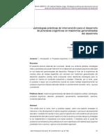 Estrateias Practicas de Intervencion Para El Desarrollo de Procesos Cognitivos en Trastornos Generalizados Del Desarrollo