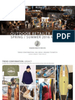 Outdoor Retailer Spring/Summer 2016 Market