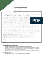 social studies michigan economy  unit plan