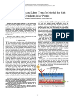 A Simple Heat and Mass Transfer Model for Salt Gradient Solar Ponds(1)