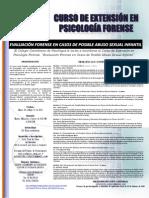 Afiche Curso en Psicología Forense