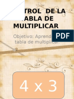 Control de La Tabla de Multiplicar-3ºc
