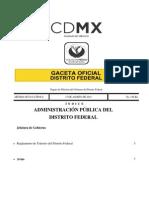 Reglamento Transito del Distrito Federal