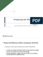 Preparing the Final Paper