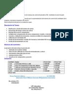Presupuesto Sistema de Control PID Ventilador Enfriador de Granos