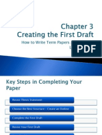 Creating a first draft (Research Paper)