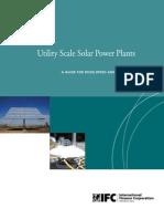 Utility Scale Solar Power Plants