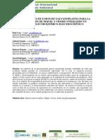 Tratamientos de Lodos de Galvanoplastia Para La Recuperacion de Niquel y Cromo