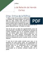 5ta Carta de Relación de Hernán Cortez