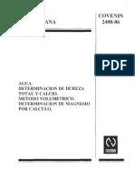 2408-86 Determinacion de Dureza en Agua