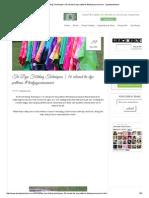 Tie Dye Folding Techniques