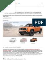 Jeep divulga novas informações do Renegade em site oficial - AUTO ESPORTE | Notícias