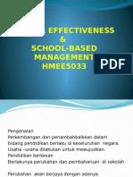 School Effectiveness & School-based Management
