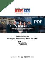 Los Angeles DWP's $44 million class action settlement