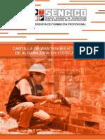 Cartilla de Mantenimiento bÁSico de AlbaÑIlerÍA en Edificaciones