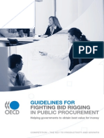Guidelines for Fighting Bid Rigging in Public Procurement
