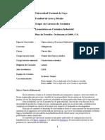 Programa Operac. Unitar 2013