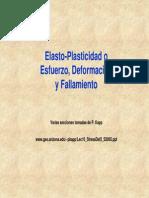 Elasto-Plasticidado Esfuerzo, Deformación y Fallamiento