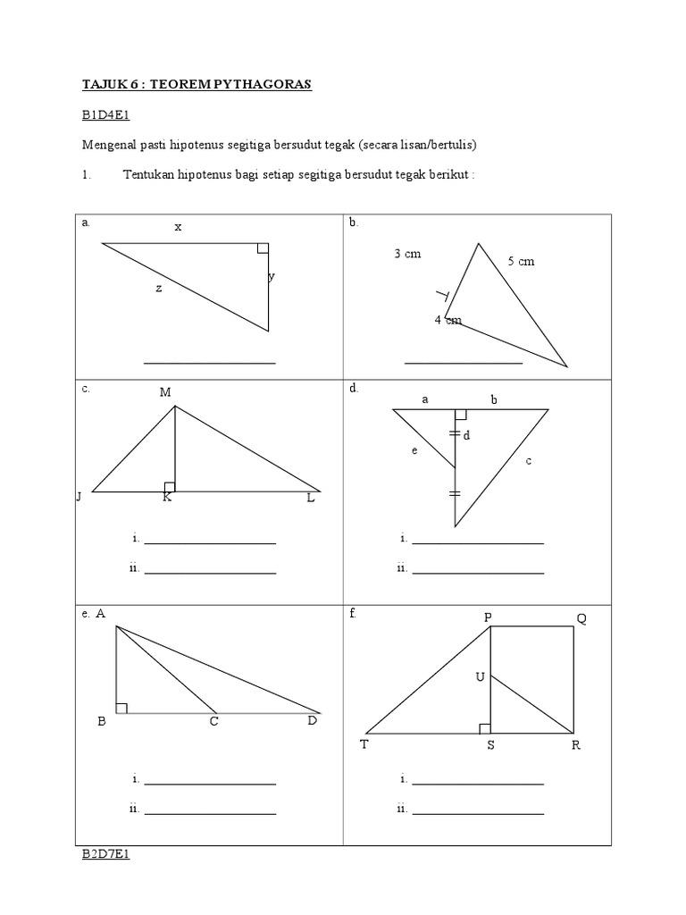 Bab 6 Teorem Pythagoras Doc