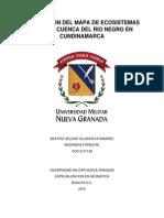 Generación Del Mapa de Ecosistemas Para La Cuenca Del Rio Negro en Cundinamarca