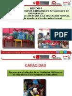 ETAPAS DE LA RESPUESTA EDUCATIVA EN SITUACIONES DE EMERGENCIA