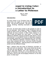 Sermon 1 - The Gospel in Living Color - Intro to Philemon