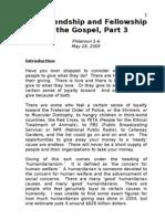 Sermon 4 - Friendship and Fellowship of Gospel - Part 3 - Philemon 5