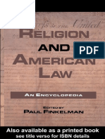 Paul Finkelman-Religion and American Law_ an Encyclopedia (Garland Reference Library of the Humanities)-Garland Publishing Inc. (1999)