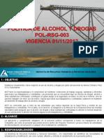 Difusion Politica Alcohol y Drogas