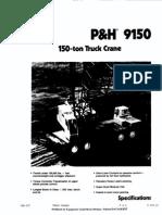 Manual de Grúa de 150 Ton P&H 9150 Celosía Sobre Camión
