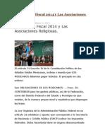 La Reforma Fiscal 2014 y Las Asociaciones Religiosas