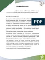 Información Excel 2010