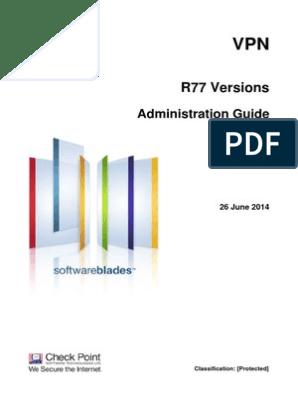 Checkpoint R77 VPN Guia de Administracion | Virtual Private