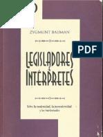 ZBauman 1997 Legisladore e Interpretes