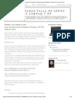 Como effeReparar Falla de Series de Compaq y HP_ Guia de Reparacion Notebooks Compaq y HP Con Falla de Serie