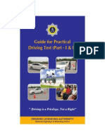 Guide for Practical Driving Test - Part-1 and Part-2