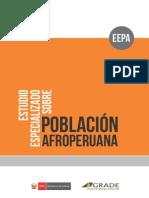 Estudio Especializado Sobre Población Afroperuana