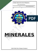 Formato para Reconocimiento de Minerales