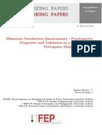 Minnesota Satisfaction Questionnaire