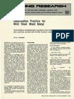 Deoxidation Practice for Mild Steel Weld Metal
